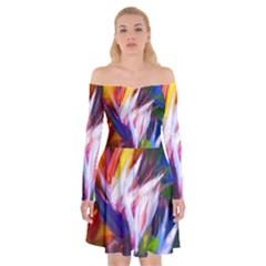 Palms02 Off Shoulder Skater Dress by psweetsdesign