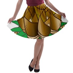 Young Bamboo A Line Skater Skirt by Mariart