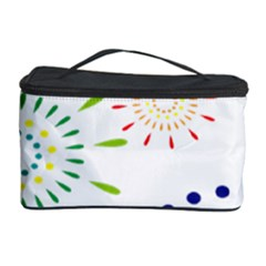 Fireworks Illustrations Fire Partty Polka Cosmetic Storage Case by Mariart