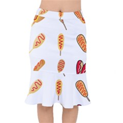 Hot Dog Buns Sate Sauce Bread Mermaid Skirt by Mariart
