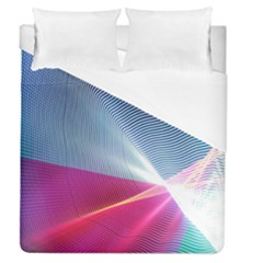 Light Means Net Pink Rainbow Waves Wave Chevron Red Duvet Cover (queen Size) by Mariart
