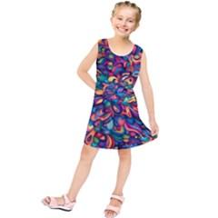 Moreau Rainbow Paint Kids  Tunic Dress by Mariart