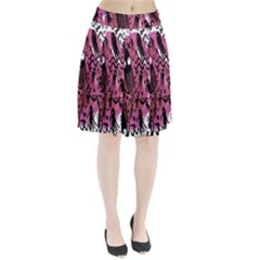 Octopus Colorful Cartoon Octopuses Pattern Black Pink Pleated Skirt by Mariart