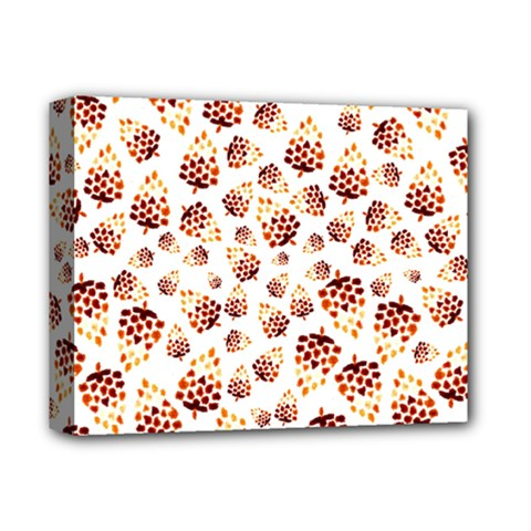 Pine Cones Pattern Deluxe Canvas 14  X 11  by Mariart