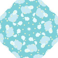 Stellar Cloud Blue Sky Star Straight Umbrellas by Mariart