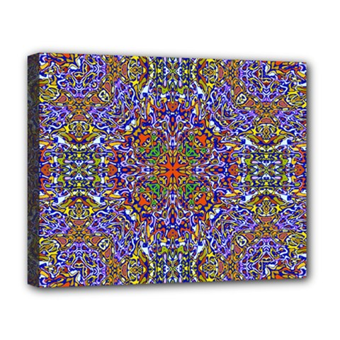 Oriental Pattern 01a Deluxe Canvas 20  X 16   by MoreColorsinLife