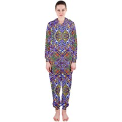 Oriental Pattern 01a Hooded Jumpsuit (ladies)  by MoreColorsinLife