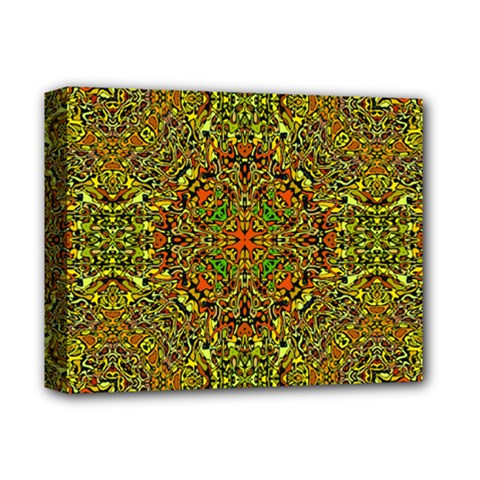 Oriental Pattern 01b Deluxe Canvas 14  X 11  by MoreColorsinLife