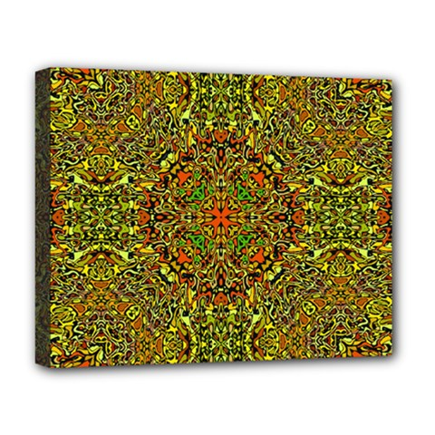 Oriental Pattern 01b Deluxe Canvas 20  X 16   by MoreColorsinLife
