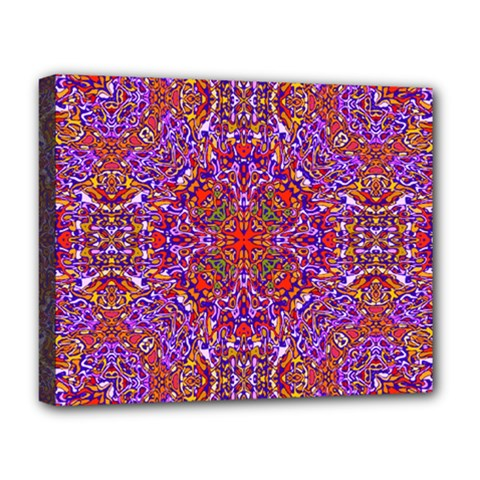 Oriental Pattern 01c Deluxe Canvas 20  X 16   by MoreColorsinLife