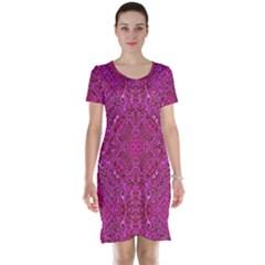 Oriental Pattern 02c Short Sleeve Nightdress by MoreColorsinLife