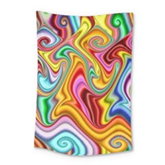 Rainbow Gnarls Small Tapestry by WolfepawFractals