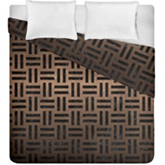 Woven1 Black Marble & Bronze Metal (r) Duvet Cover Double Side (king Size) by trendistuff