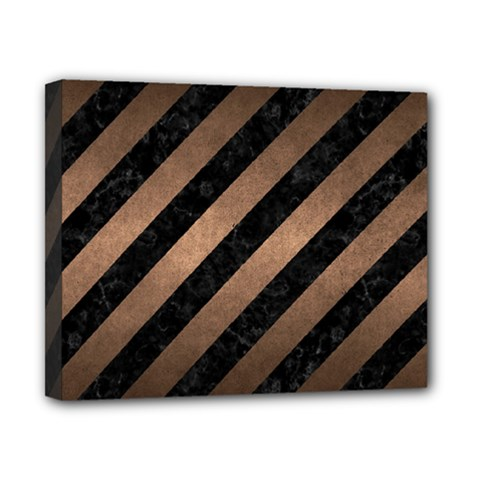 Stripes3 Black Marble & Bronze Metal Canvas 10  X 8  (stretched) by trendistuff