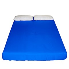 Azure Fitted Sheet (california King Size) by SimplyColor