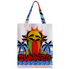 Tropical Summer Zipper Classic Tote Bag by Valentinaart