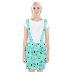 Summer pattern Braces Suspender Skirt by Valentinaart