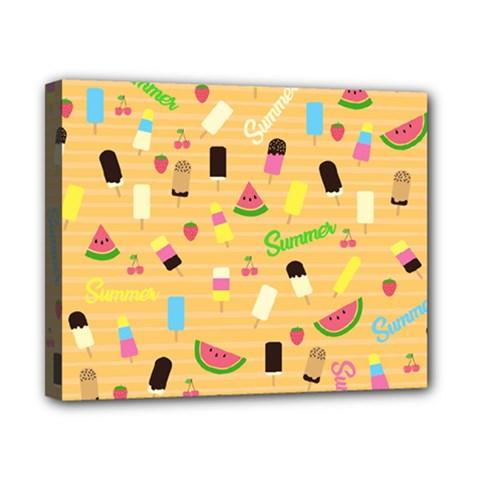 Summer Pattern Canvas 10  X 8  by Valentinaart
