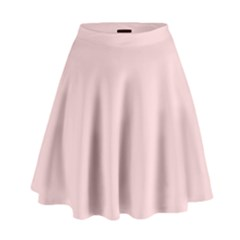 Blush Pink High Waist Skirt by SimplyColor