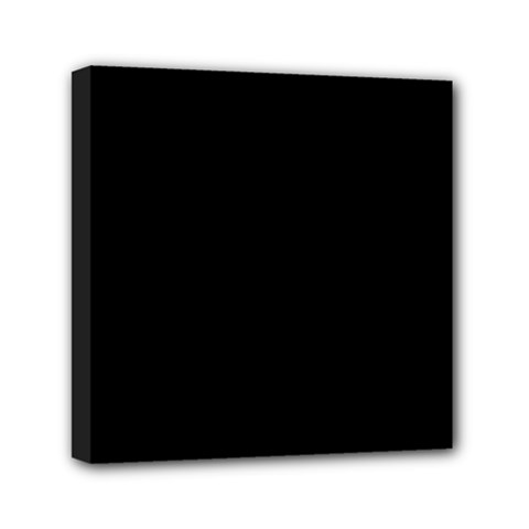 Simply Black Mini Canvas 6  X 6  by SimplyColor