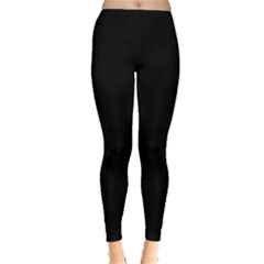 Simply Black Leggings  by SimplyColor