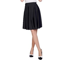 Simply Black A Line Skirt by SimplyColor