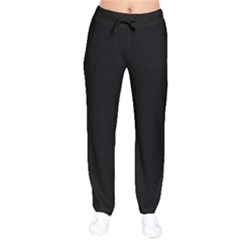 Simply Black Drawstring Pants by SimplyColor