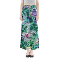 Floral Chrome 01b Maxi Skirts by MoreColorsinLife