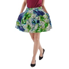 Floral Chrome 2a A Line Pocket Skirt by MoreColorsinLife