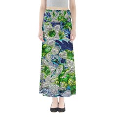 Floral Chrome 2a Maxi Skirts by MoreColorsinLife