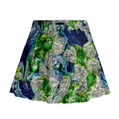 Floral Chrome 2a Mini Flare Skirt by MoreColorsinLife