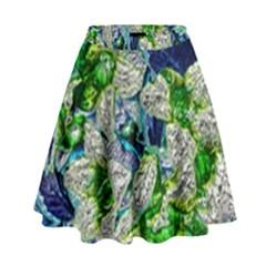 Floral Chrome 2a High Waist Skirt by MoreColorsinLife