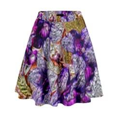 Floral Chrome 2b High Waist Skirt by MoreColorsinLife