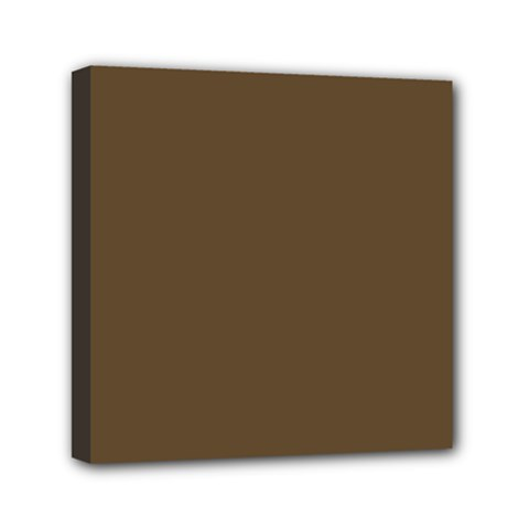 Brown Hide Solid Color  Mini Canvas 6  X 6  by SimplyColor