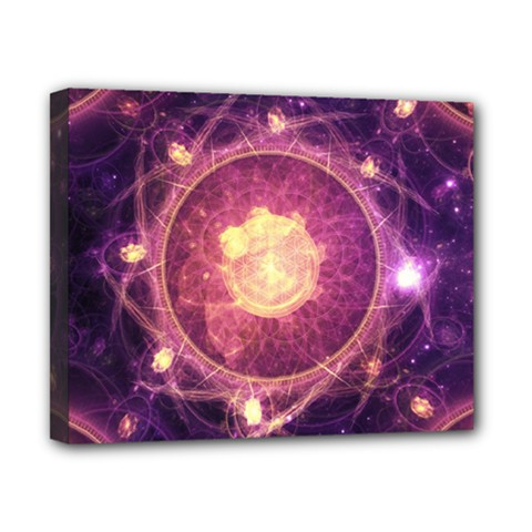 A Gold And Royal Purple Fractal Map Of The Stars Canvas 10  X 8  by beautifulfractals