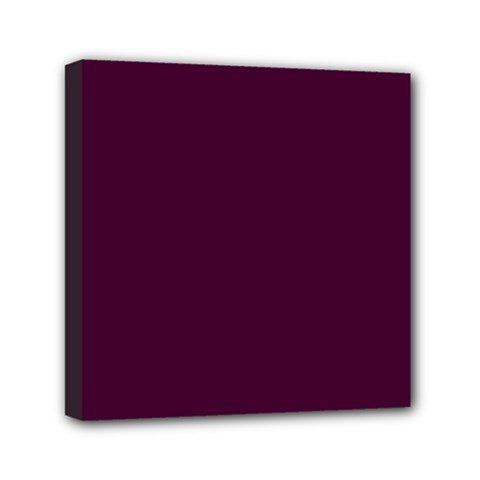 Black Cherry Solid Color Mini Canvas 6  X 6  by SimplyColor