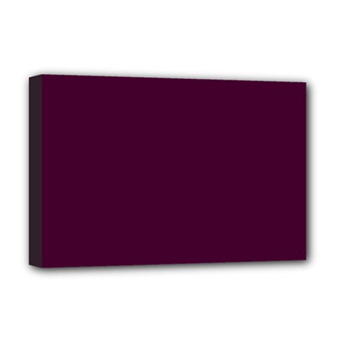 Black Cherry Solid Color Deluxe Canvas 18  X 12   by SimplyColor