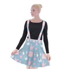Baby Girl Accessories Pattern Pacifier Suspender Skater Skirt by Mariart