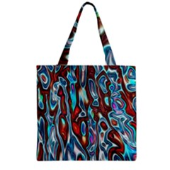 Dizzy Stone Wave Grocery Tote Bag by Mariart