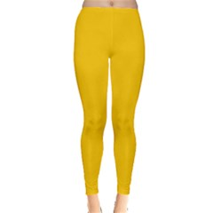 Amber Solid Color  Leggings  by SimplyColor