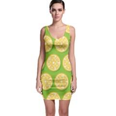 Lime Orange Yellow Green Fruit Sleeveless Bodycon Dress by Mariart