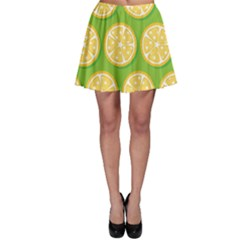 Lime Orange Yellow Green Fruit Skater Skirt by Mariart