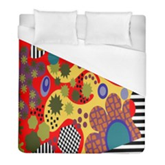 Line Star Polka Dots Plaid Circle Duvet Cover (full/ Double Size) by Mariart