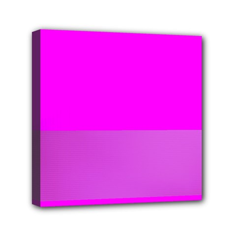 Line Pink Mini Canvas 6  X 6  by Mariart