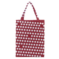 Pink White Polka Dots Classic Tote Bag by Mariart