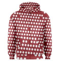 Pink White Polka Dots Men s Zipper Hoodie by Mariart