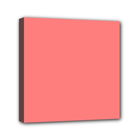 Coral Solid Color  Mini Canvas 6  X 6  by SimplyColor