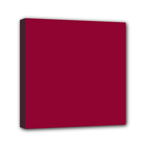Burgundy Solid Color  Mini Canvas 6  X 6  by SimplyColor
