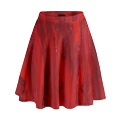 Stone Red Volcano High Waist Skirt by Mariart