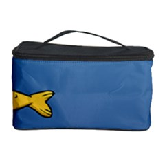 Water Bubbles Fish Seaworld Blue Cosmetic Storage Case by Mariart
